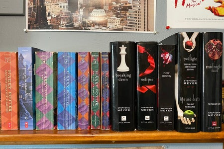 Twilight and Harry Potter books