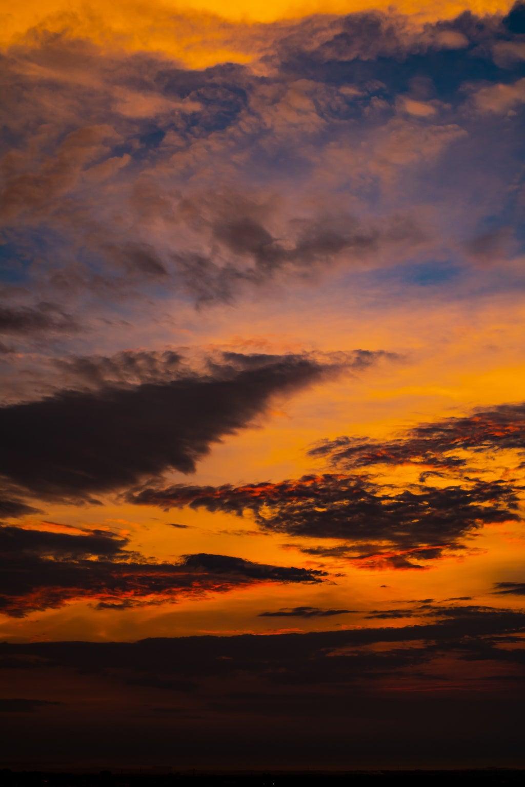 sky during golden hour
