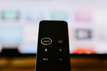 smart tv remote facing tv