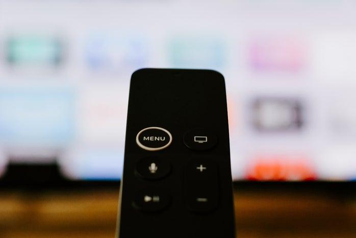 smart tv remote facing tv