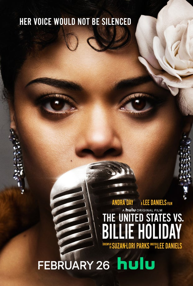 "Movie poster for ""The United States vs. Billie Holiday""."