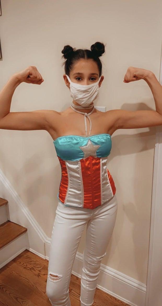 Girl in Captain America Costume