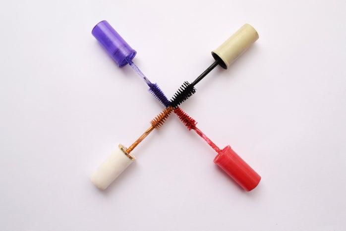 colorful mascara wands