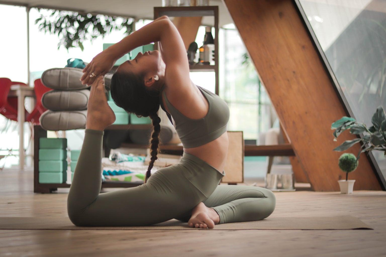 A Woman Doing Yoga Pose