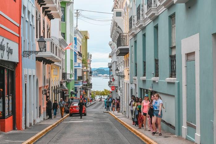 street in San Juan, Puerto Rico