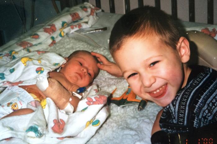 Childhood photo of guest writer Emily Busha and brother Tyler Busha. Photo taken by member\'s mother Lisa Busha