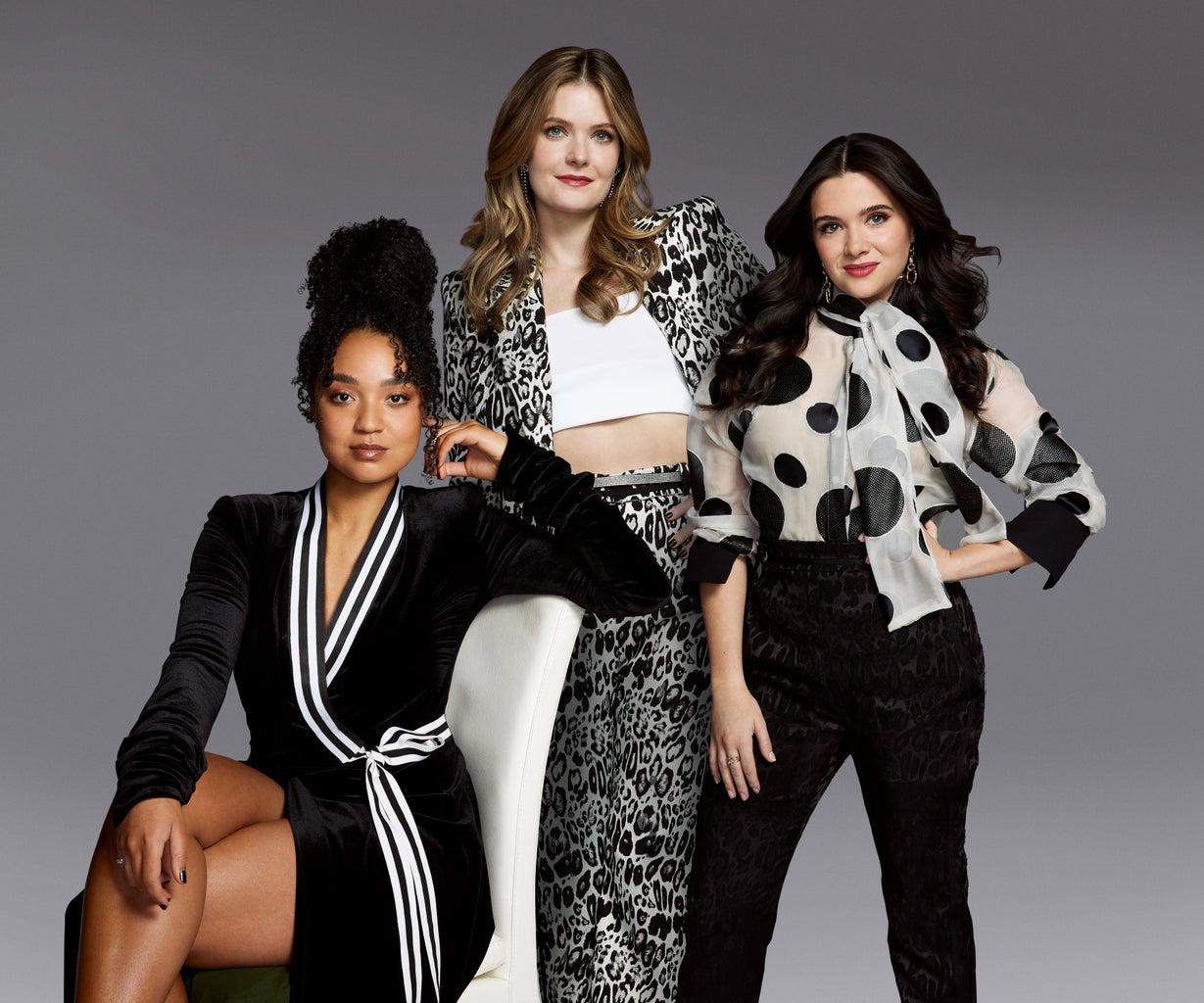 The Bold Type stars Aisha Dee as Kat Edison, Meghann Fahy as Sutton Brady and Katie Stevens as Jane Sloan.