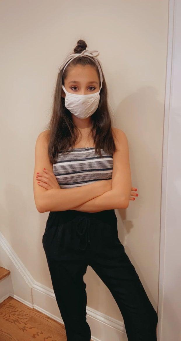 Girl in DIY Robber Costume