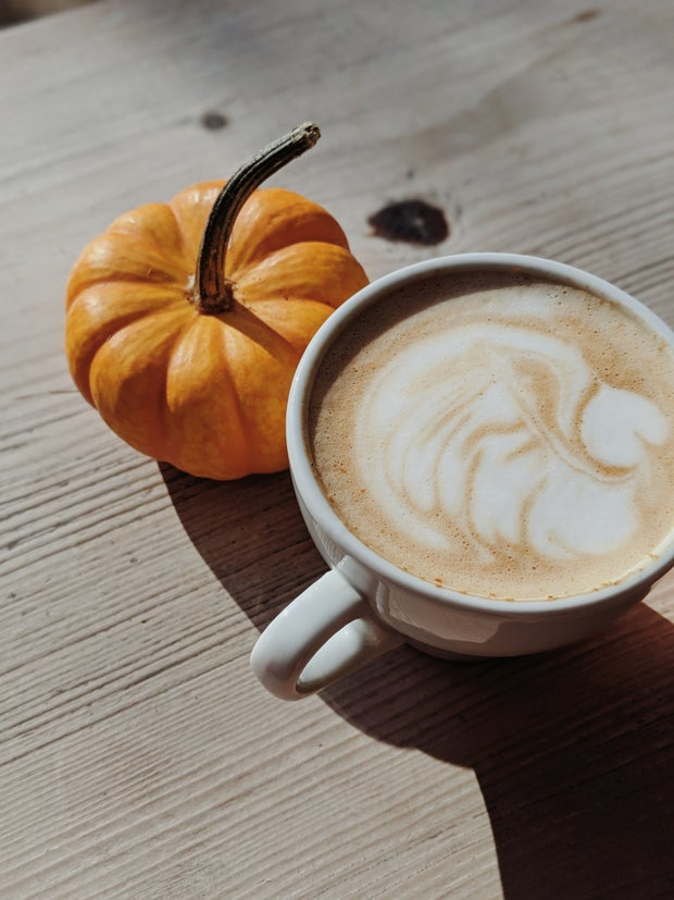 cafe latte with pumpkin