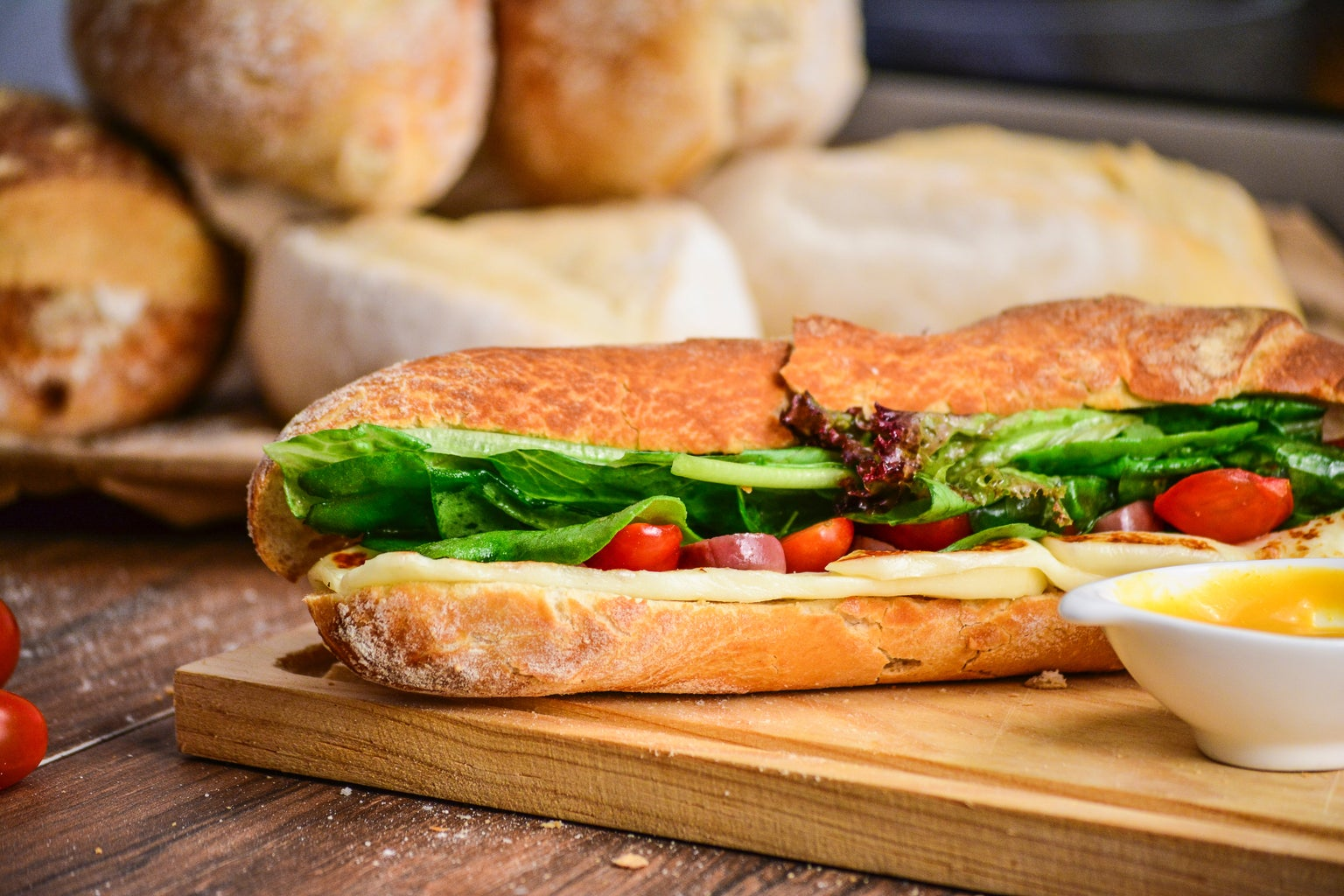 Sandwich on table