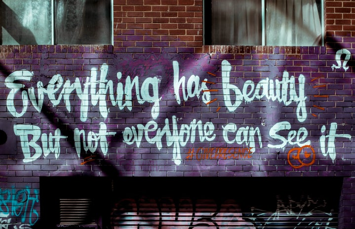 Everything has beauty street art