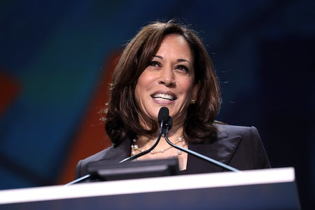 Kamala Harris at Podium