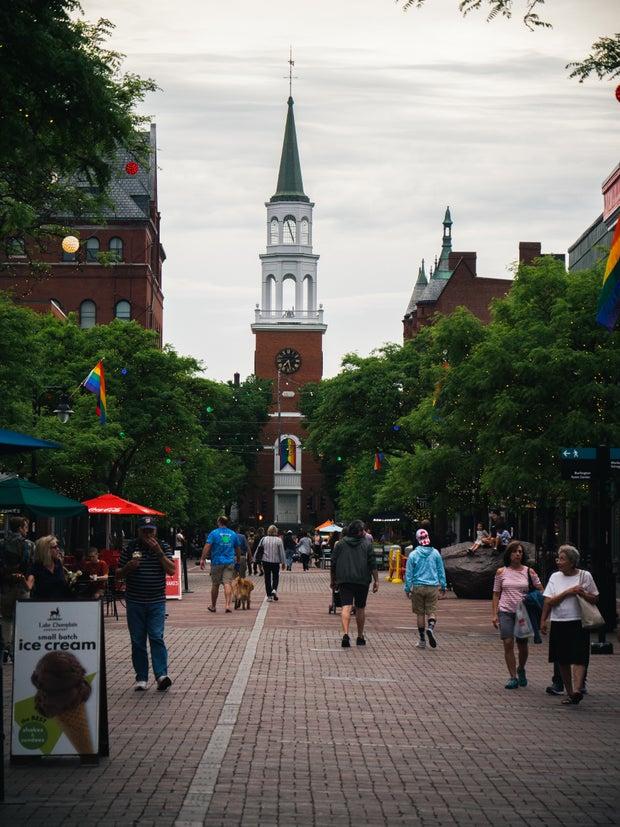 Church St marketplace in Burlington Vermont