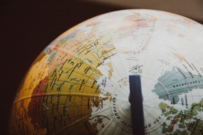 Desk Globe on Shallow Focus Lens