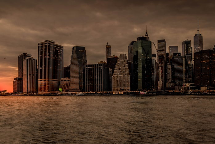 NYC during sunset