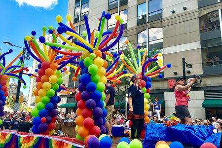 Float in pride parade