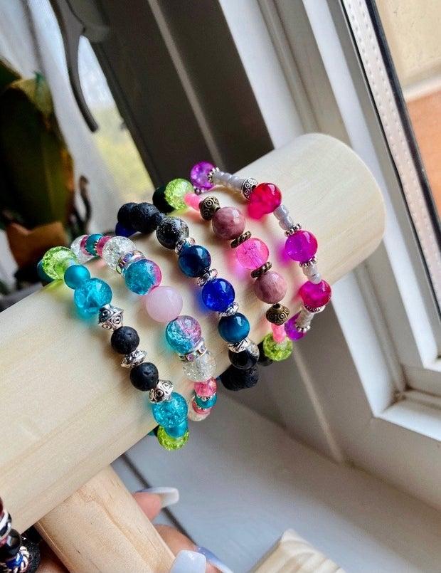 bracelets on stand