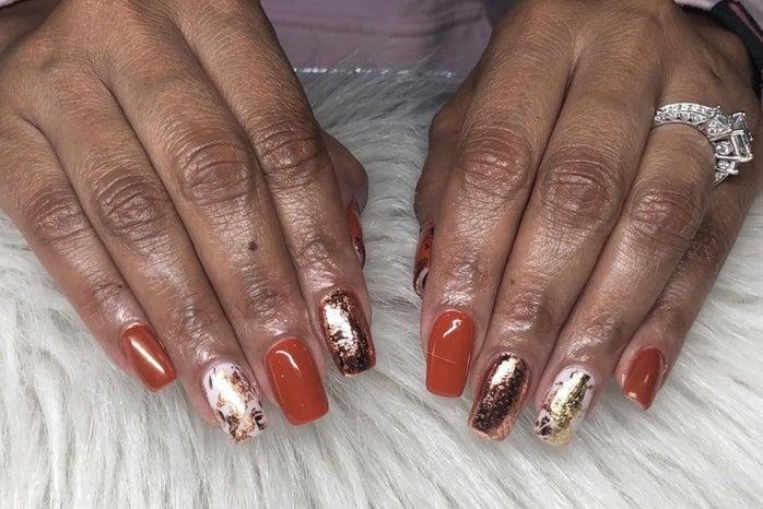 Golden Hour nails
