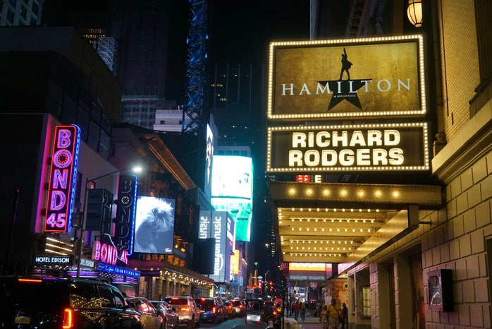 Hamilton at the Richard Rogers theater