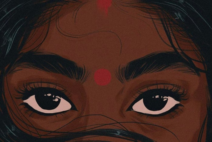 """Brown Woman Top Half of Face \""""Red Pt. 1\"""""""