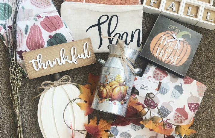 Various affordable fall décor items