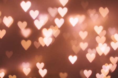 pink heart lights