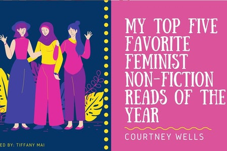 Cover for article about feminist non-fiction books
