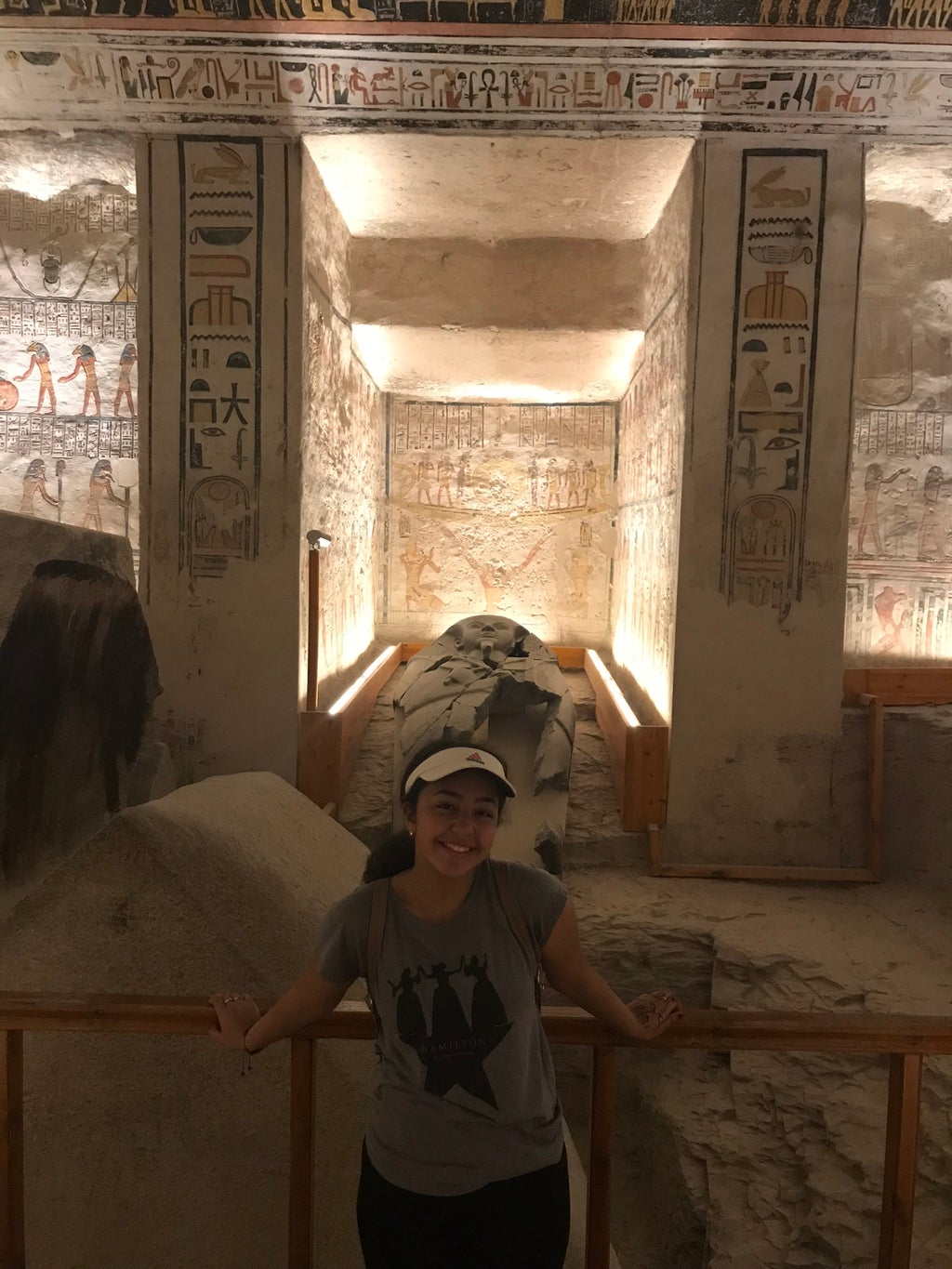 Standing in the burial chamber of an ancient Pharaoh