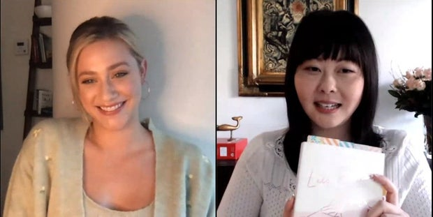 Vroman's Bookstore photo of Lili Reinhart in conversation with Lang Leav
