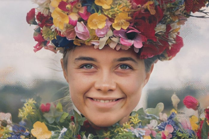 """screenshot from the movie \""""Midsommar\"""" - woman smiling"""