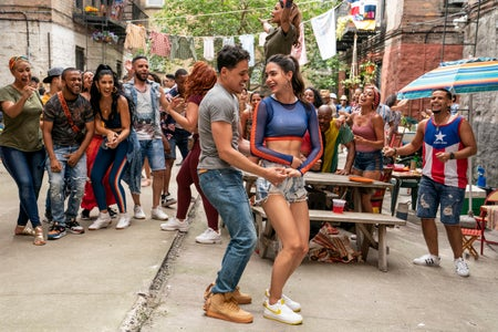 In the Heights Picture Five:  Melissa Barrera + Anthony Ramos