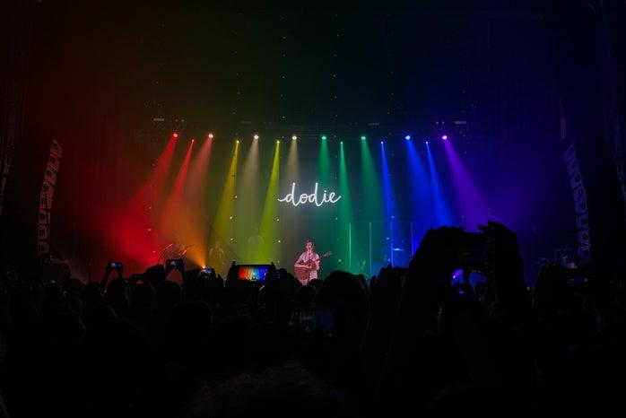 crowd watching dodie\'s show
