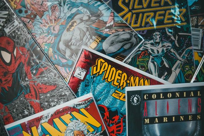 spiderman, comics, batman
