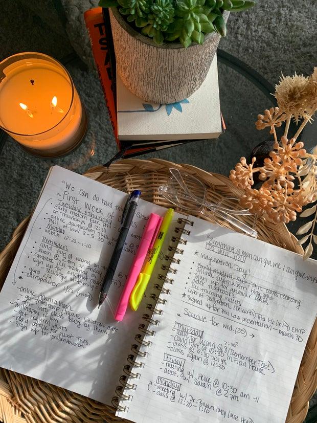 List in a journal