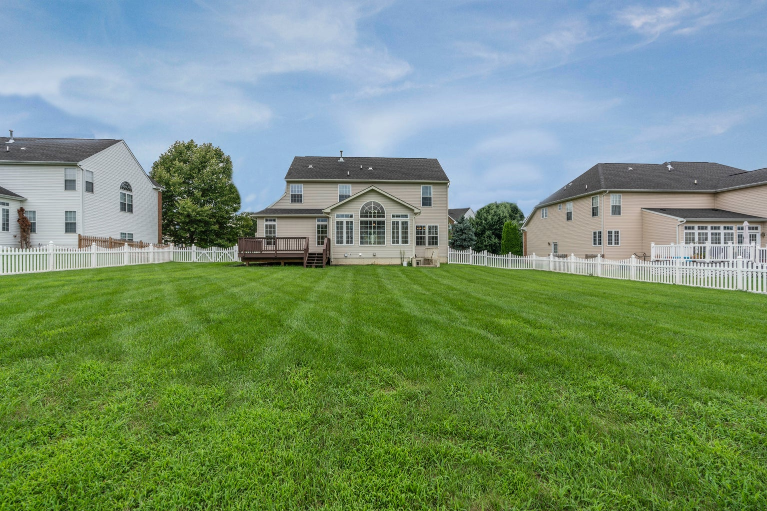 Lawn with house in back