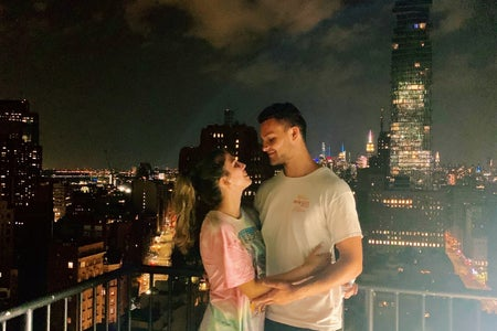 me and my boyfriend in new york city