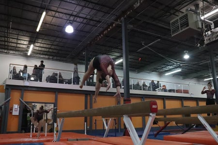 FSU gymnastics backhandspring on beam