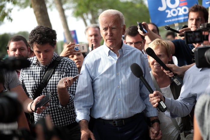 Joe Biden speaking at campaign rally