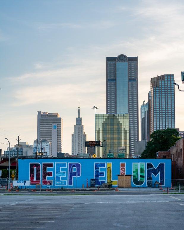 Deep Ellum mural in Dallas TX