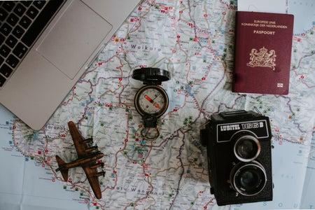 laptop and travel essentials