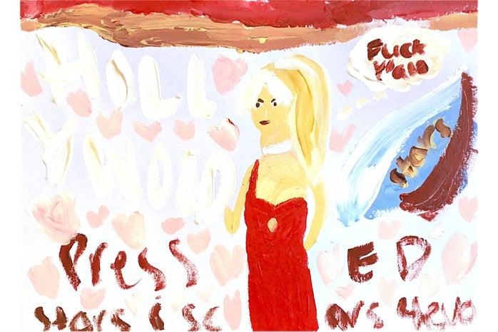 Original artwork surrounding Britney Spears conservatorship trial