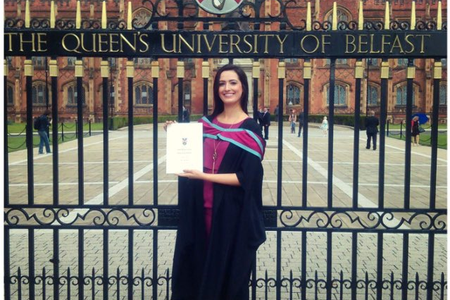 Our woman of the month sophie Doherty getting her masters