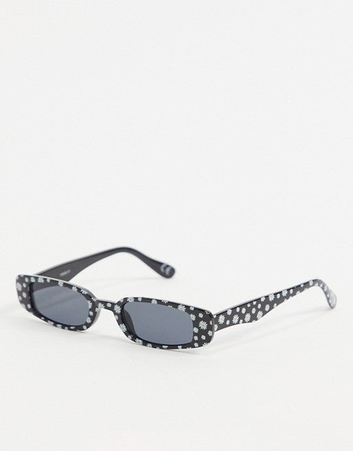 Daisy Print Narrow Sunglasses