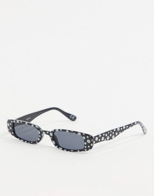 Daisy Print Narrow Sunglasses