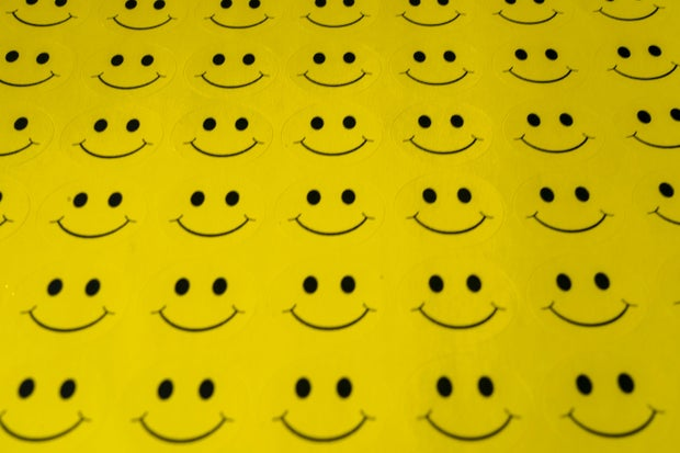 yellow smiley face stickers