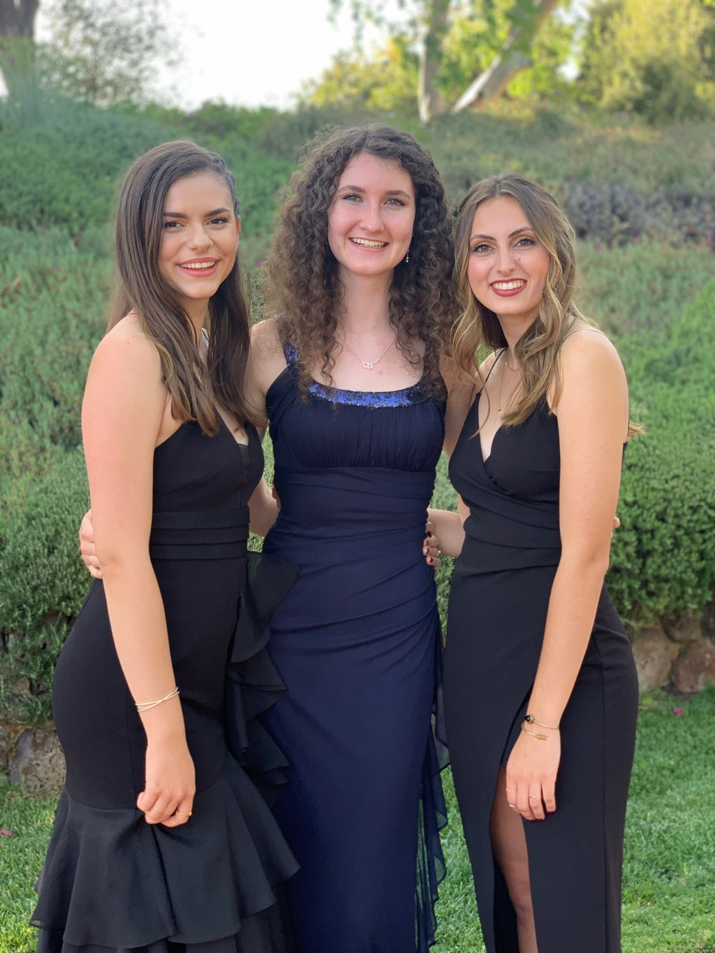 Woman with friends at wedding