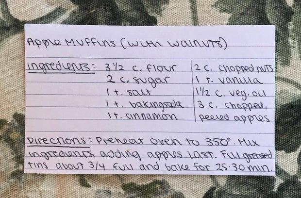 apple walnut muffin recipe
