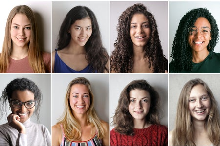 yearbook style photos of young people