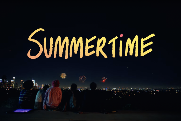 screenshot from the Summertime (2021) movie trailer