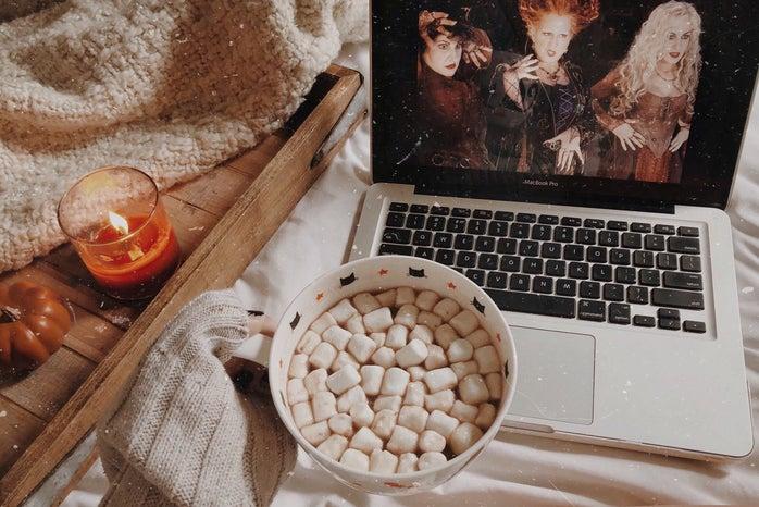 Hot chocolate and movie